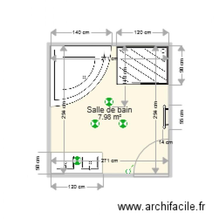 Salle De Bain Plan 1 Pi Ce 8 M2 Dessin Par Trophee77