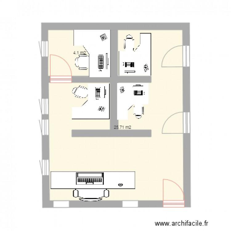 Bureau logistique plan 2 pi ces 30 m2 dessin par naurivel for Nombre de m2 par personne bureau