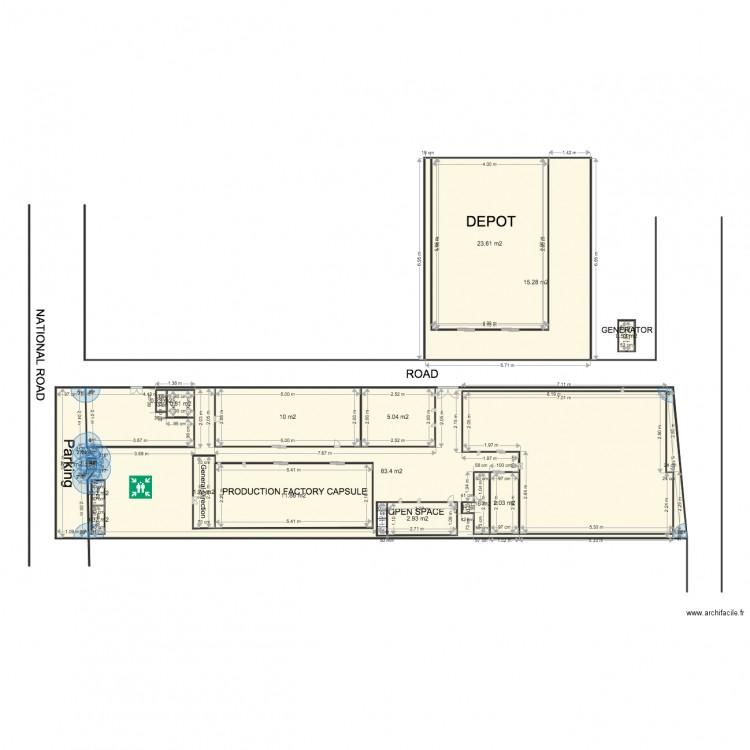 Plan bekoko sans fenetre plan 17 pi ces 165 m2 dessin for Louer chambre sans fenetre