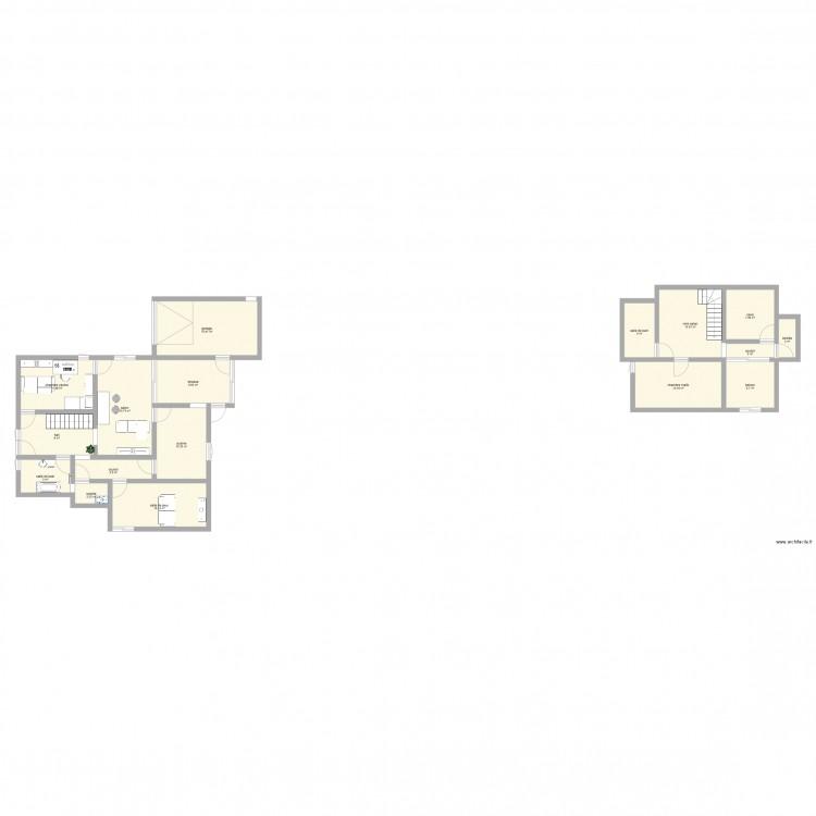 maison reve 1 plan 17 pi ces 145 m2 dessin par manigo. Black Bedroom Furniture Sets. Home Design Ideas