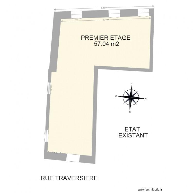 permis de construire existant plan 3 pi ces 125 m2 dessin par tom petiot. Black Bedroom Furniture Sets. Home Design Ideas
