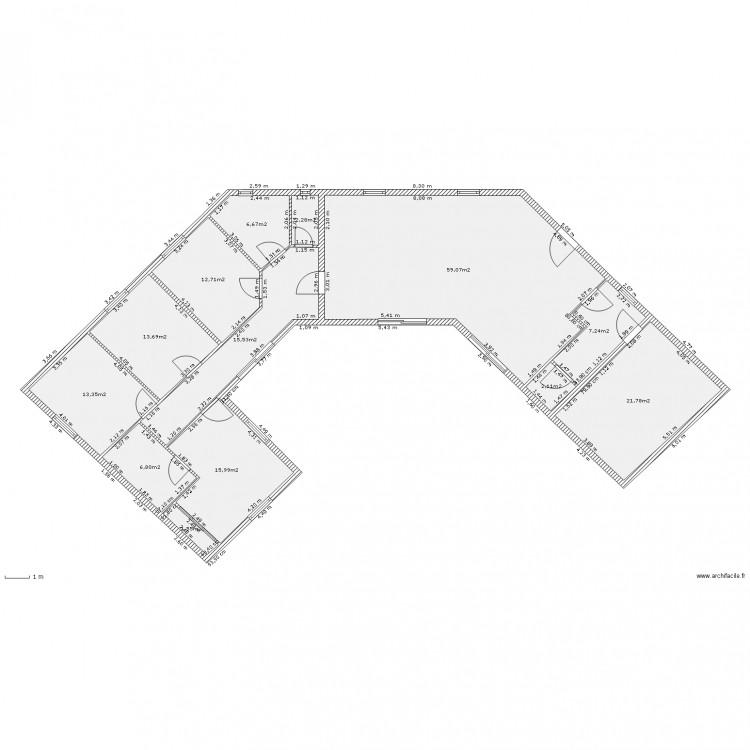 maison v 2 plan 13 pi ces 179 m2 dessin par zinzinzer. Black Bedroom Furniture Sets. Home Design Ideas