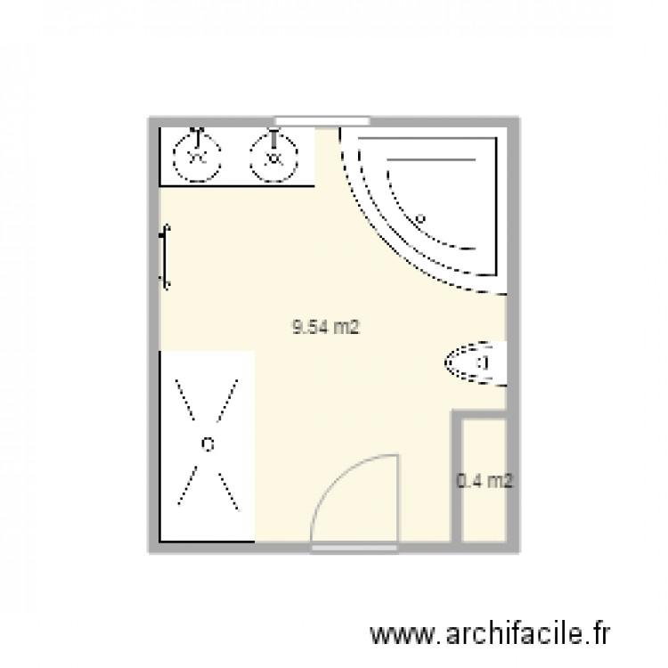 Salle de bain plan 2 pi ces 10 m2 dessin par virginie for Salle de bain 6 5 m2