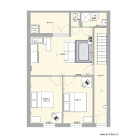 Plan appartement 51m2