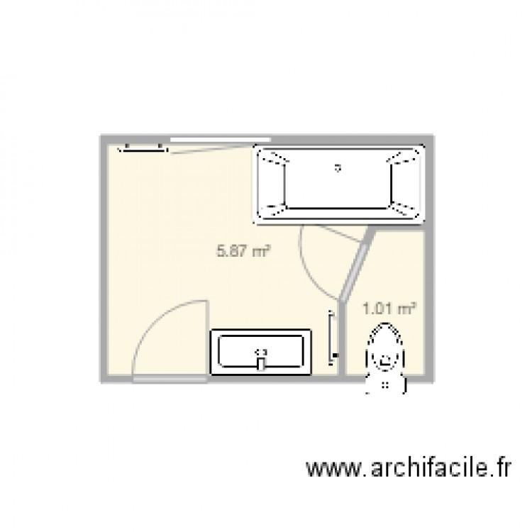 salle de bain 6 plan 2 pi ces 7 m2 dessin par ivan34. Black Bedroom Furniture Sets. Home Design Ideas