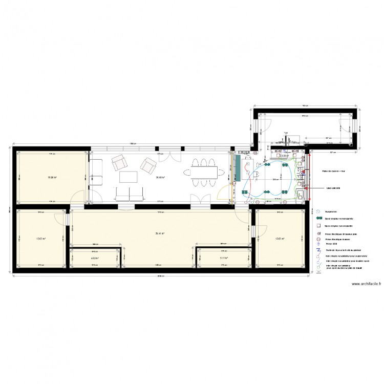 plan electrique maison campagne plan 8 pi ces 164 m2 dessin par soleil4475. Black Bedroom Furniture Sets. Home Design Ideas