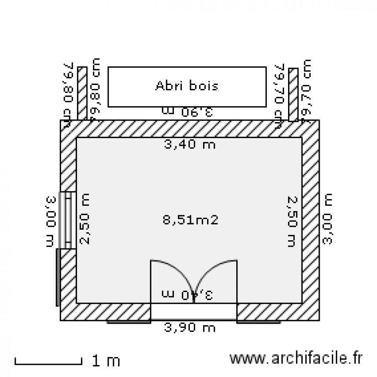 Abri de jardin plan 1 pi ce 9 m2 dessin par zorglub1 - Abri jardin grande taille ...