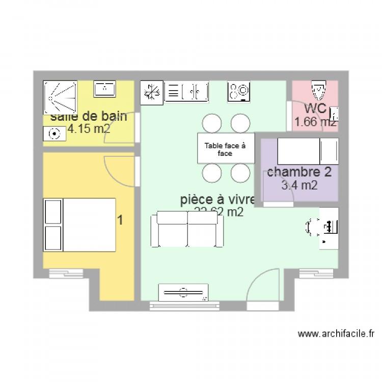 plan de maison 40m2