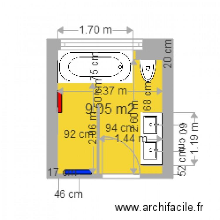 Salle De Bain Affolter Plan 1 Pi Ce 9 M2 Dessin Par Sunclim