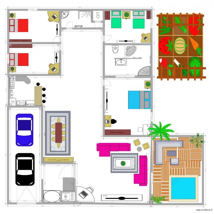 Plans De Maison 1 Model Kalanie Plan 7 Pieces 170 M2 Dessine Par Kalanie