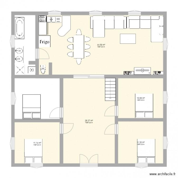 mon plan plan 5 pi ces 104 m2 dessin par kamalou