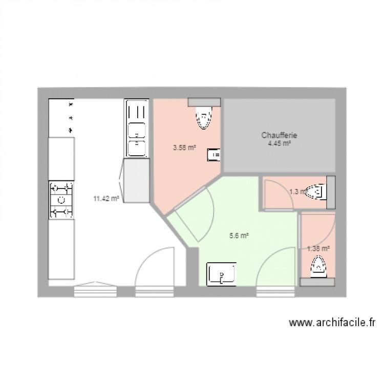 Sanitaires cuisine cap plan 6 pi ces 28 m2 dessin par - Inscription cap cuisine ...
