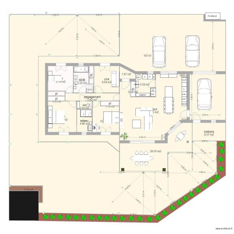 Plan opt222 plan 24 pi ces 592 m2 dessin par nicodicocco11 for 592 plan