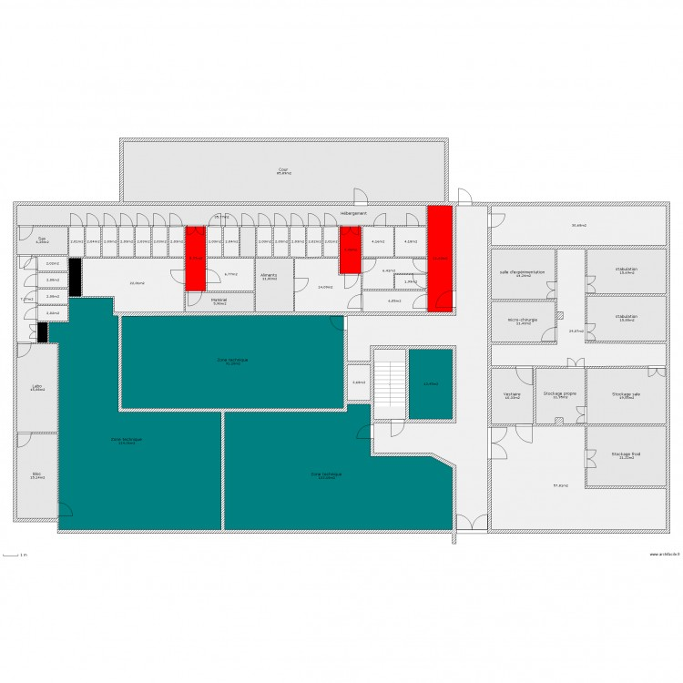 projet animalerie 2 porcs et rongeurs plan 57 pi ces. Black Bedroom Furniture Sets. Home Design Ideas