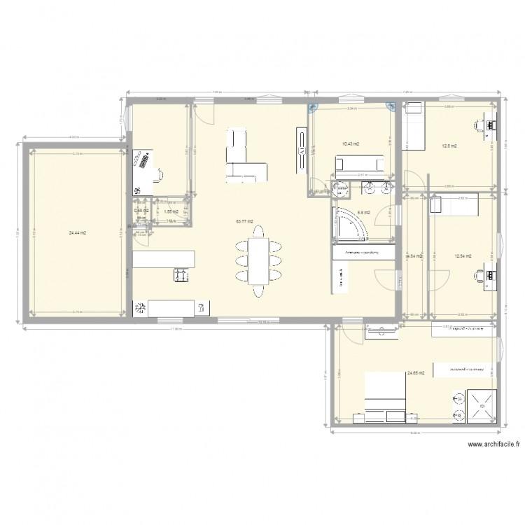 Home projet v2 plan 10 pi ces 162 m2 dessin par julien c for 162 plan