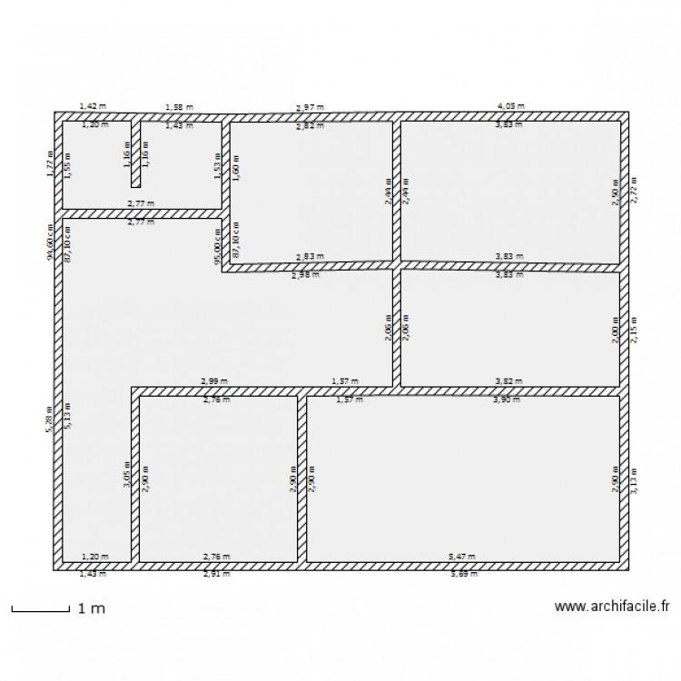 Plan maison 80m2 2 chambres plan habill rdc maison maison for Plan maison 80m2