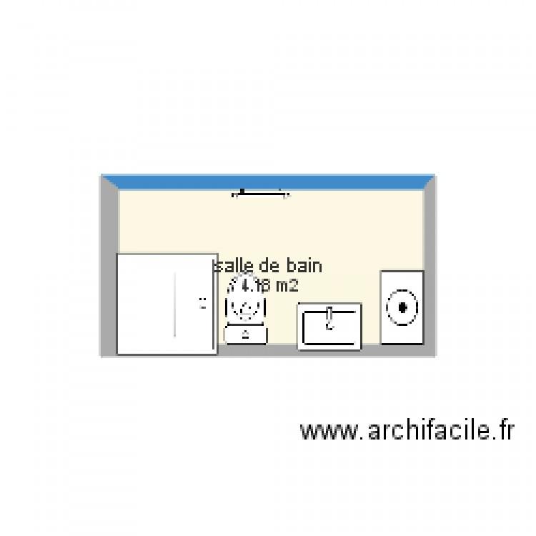 Salle de bain plan 1 pi ce 4 m2 dessin par marievictor for Salle de bain 4 m2