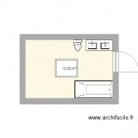 Plan De Salle De Bain ArchiFacile - Plan salle de bains