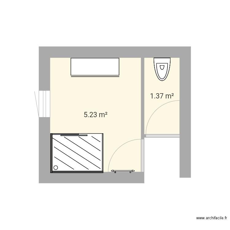 salle de bain bas 3 plan 2 pi ces 7 m2 dessin par nounou. Black Bedroom Furniture Sets. Home Design Ideas