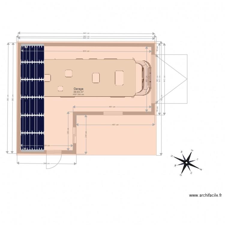 garage st andre des eaux plan 1 pi ce 40 m2 dessin par sade44117. Black Bedroom Furniture Sets. Home Design Ideas