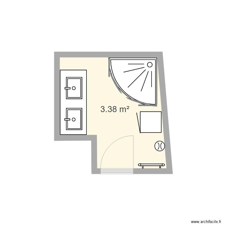 sdb enfants pt modele - Plan 1 pièce 3 m2 dessiné par mdesjardins