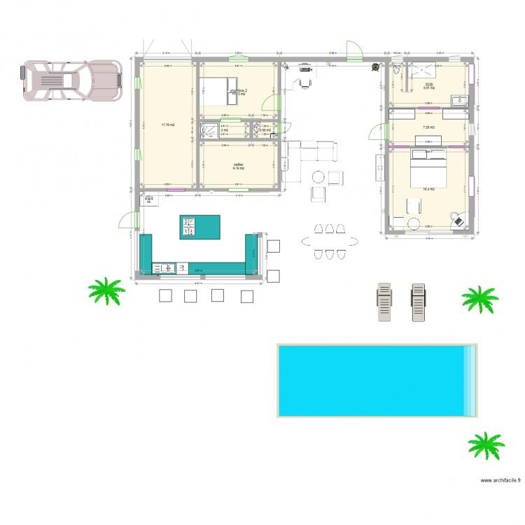 Plan Maison  Chambres  Plan  Pices  M Dessin Par Popoche