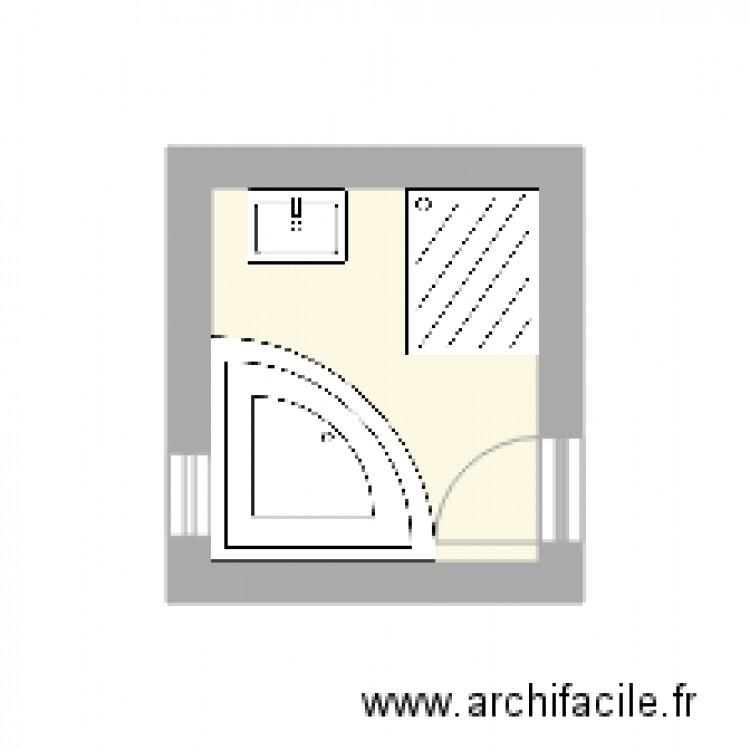 Salle de bain 2 plan 1 pi ce 4 m2 dessin par prambaud for Salle de bain 4 m2