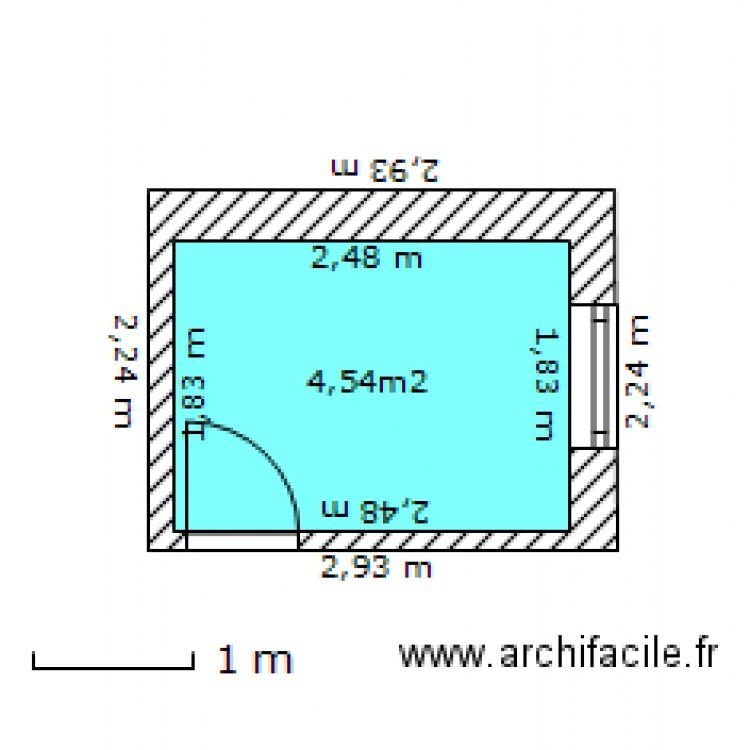 Salle de bain plan 1 pi ce 5 m2 dessin par carapuce for Salle de bain 7 5 m2