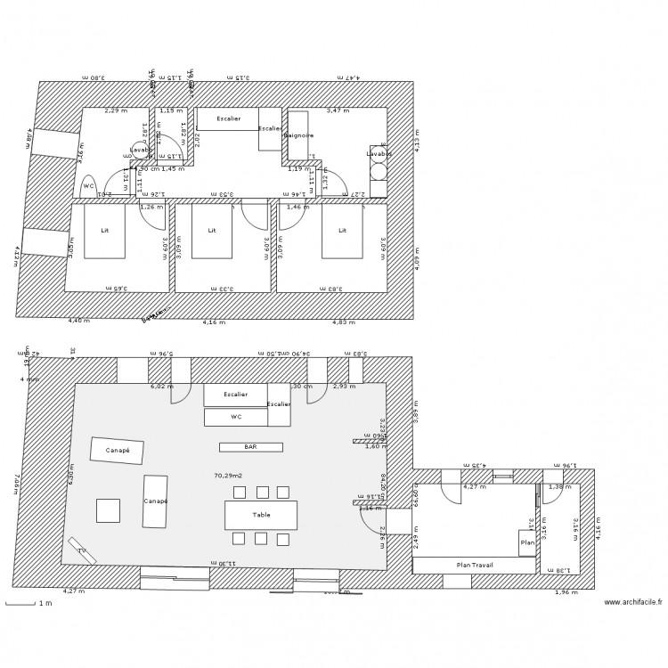Maison Vieille - Plan 1 pièce 70 m2 dessiné par Cylou