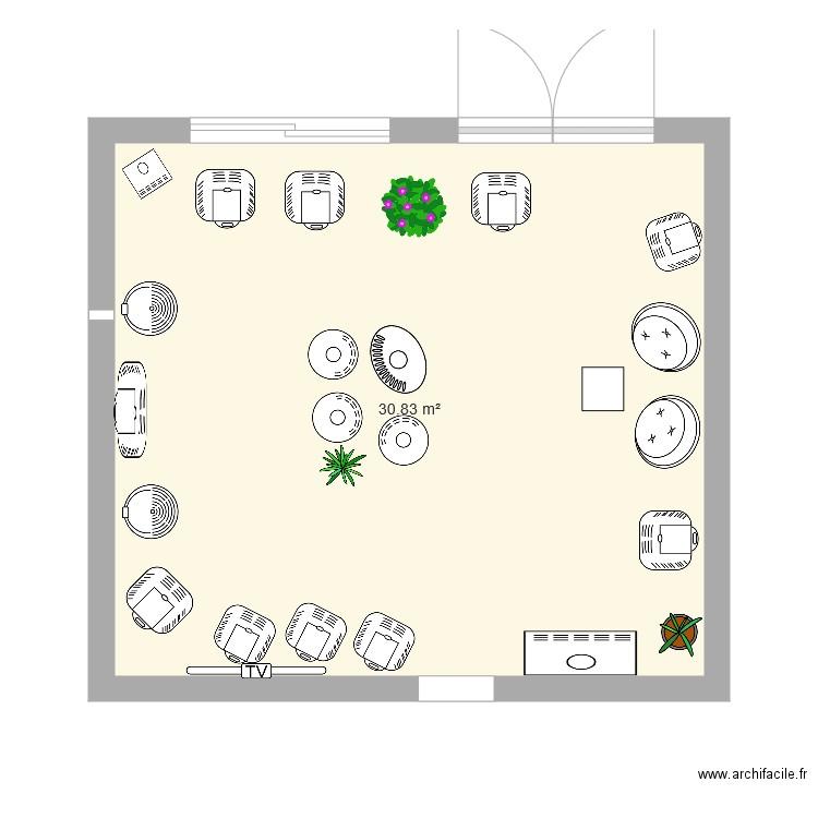 la maison du poele plan 1 pi ce 31 m2 dessin par schmoil. Black Bedroom Furniture Sets. Home Design Ideas
