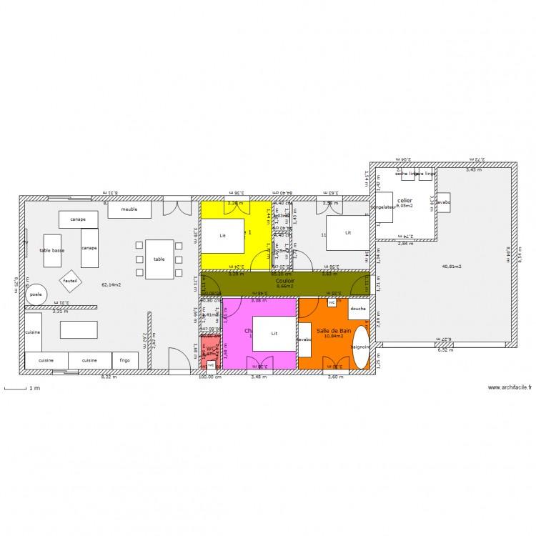Ma maison 1 plan 12 pi ces 169 m2 dessin par jtri for Dessine ma maison gratuitement
