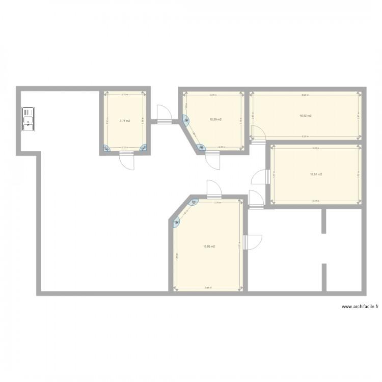 maison plan 5 pi ces 70 m2 dessin par stefanyy39. Black Bedroom Furniture Sets. Home Design Ideas