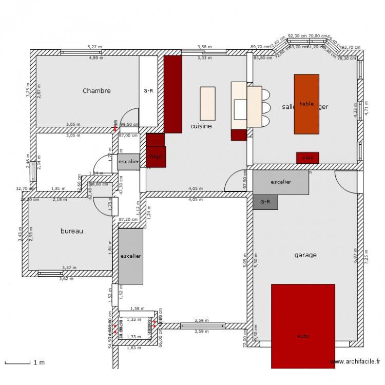 Ajout garage plan 5 pi ces 92 m2 dessin par cossyl7 for Ajout garage