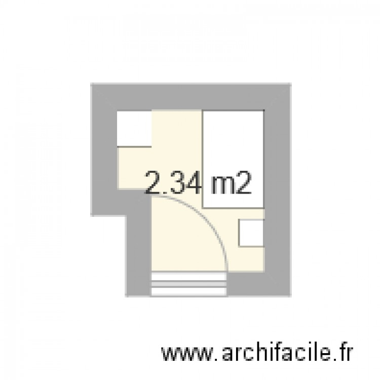 salle de bain plan 1 pi ce 2 m2 dessin par kefiel. Black Bedroom Furniture Sets. Home Design Ideas
