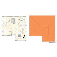 Plan new maison plain pied 2ch