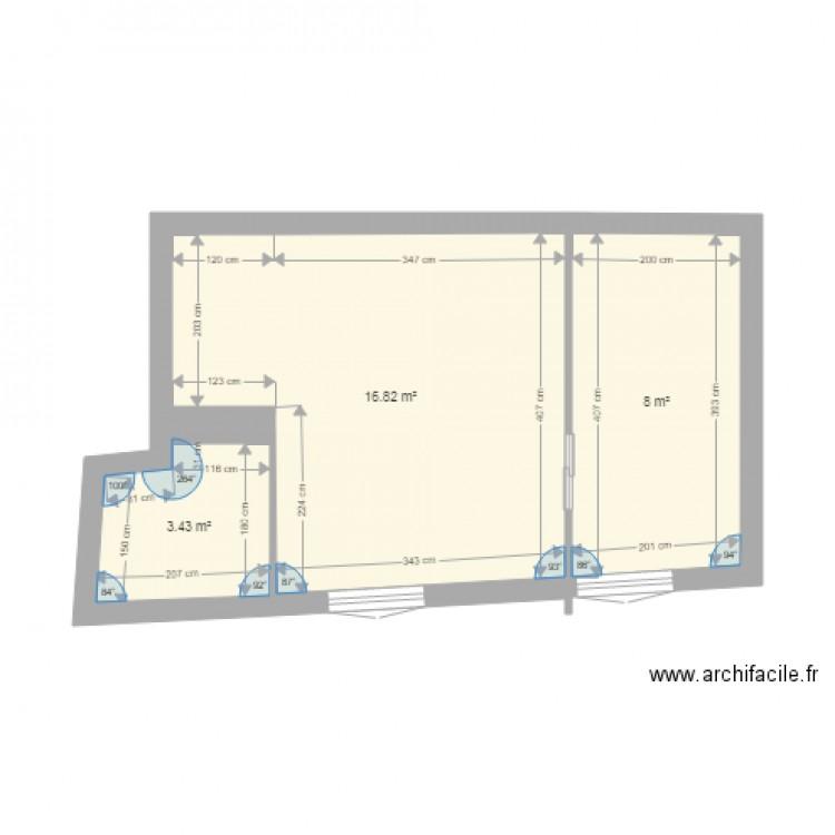 75017 plan 3 pi ces 28 m2 dessin par sprincean for Piscine 75017