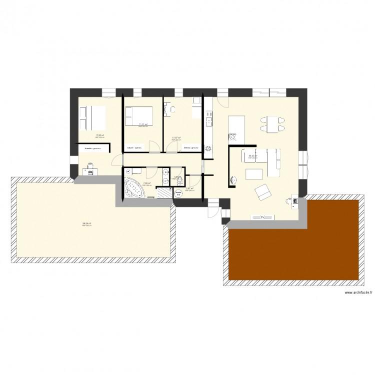 Plan Maison Plain Pied 120m2 Passive. Plan De 9 Pièces Et 215 M2