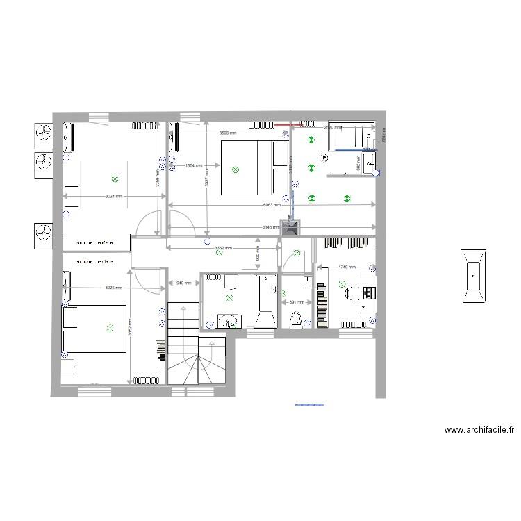Maison Etage Complet Plan 6 Pieces 62 M2 Dessine Par Seraphin81