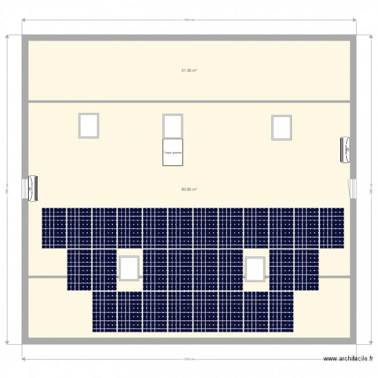 grenier avec rampe acces garage plan 3 pi ces 154 m2 dessin par bhl. Black Bedroom Furniture Sets. Home Design Ideas