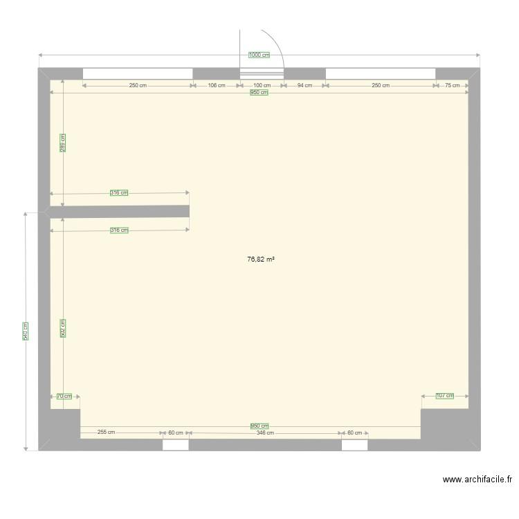 magasin produits locaux plan 2 pi ces 8 m2 dessin par. Black Bedroom Furniture Sets. Home Design Ideas