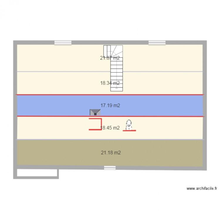 Plan combles plan 5 pi ces 97 m2 dessin par laurent60 - Plan amenagement combles ...