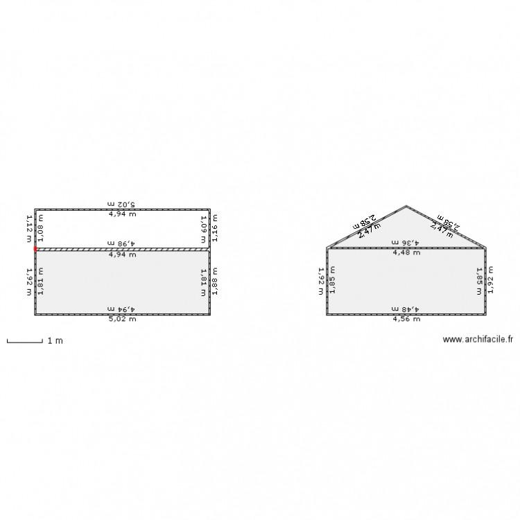 facade du garage initiale vue en coupe plan 3 pi ces 20. Black Bedroom Furniture Sets. Home Design Ideas