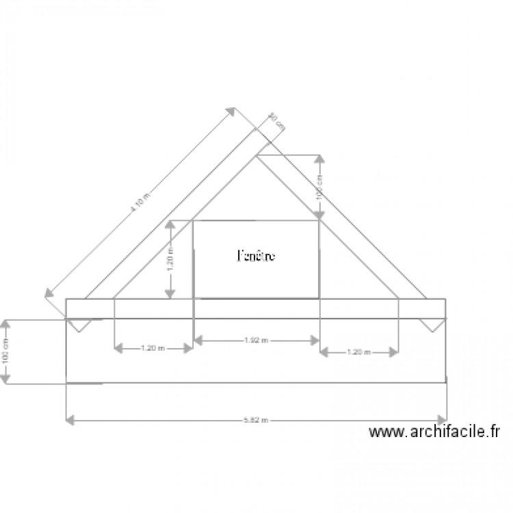 pignon projet tage plan dessin par cbergot. Black Bedroom Furniture Sets. Home Design Ideas