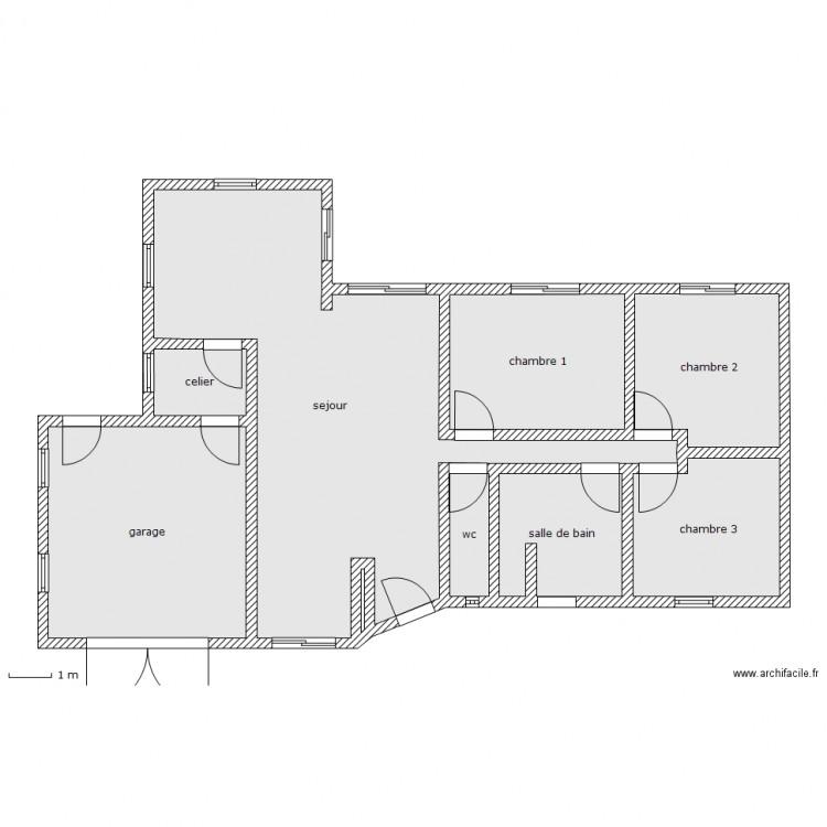 Maison clem et anais plan 9 pi ces 120 m2 dessin par for Taille moyenne maison