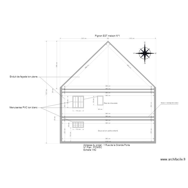 Plan Coupe Maison: Plan 5 Pièces 73 M2 Dessiné