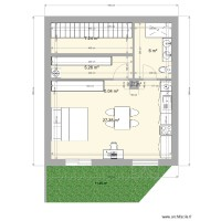 Plan appartement F2 a