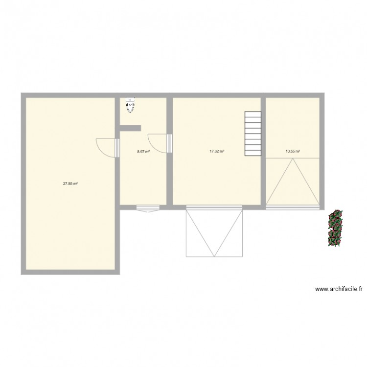 Pc fenetre plan 4 pi ces 65 m2 dessin par cannelle01 for Fenetre plan