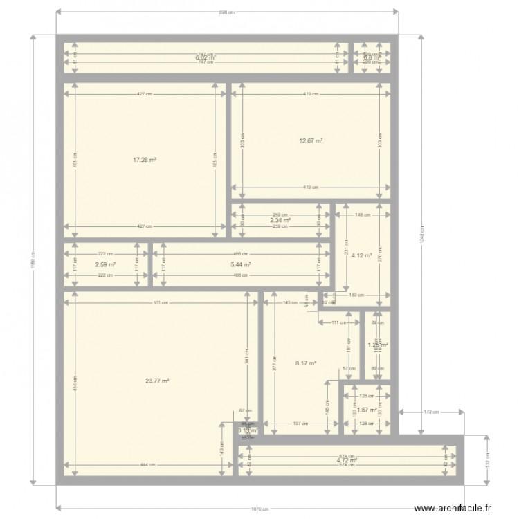 brach strasbourg plan 14 pi ces 91 m2 dessin par lcd67. Black Bedroom Furniture Sets. Home Design Ideas