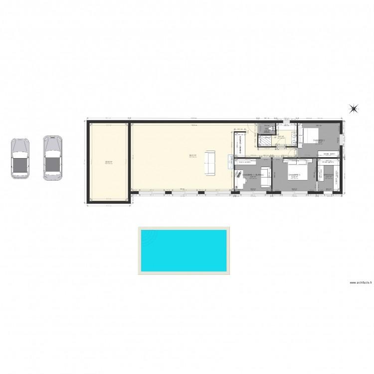 Maison carheil plan 8 pi ces 140 m2 dessin par travaux bretagne - Consommation electrique moyenne maison 140 m2 ...