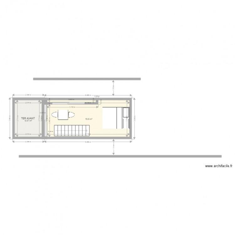 Container 20 pieds plan 5 pi ces 52 m2 dessin par isa for Plan container 20 pieds